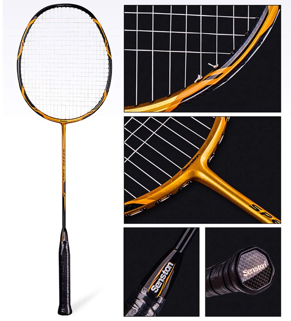 Senston - High Grade 2 Player Graphite Badminton Racket Set - Including 1 Badminton Bag/2 Rackets/2 Grip(red+Yellow) by Senston (Image #2)