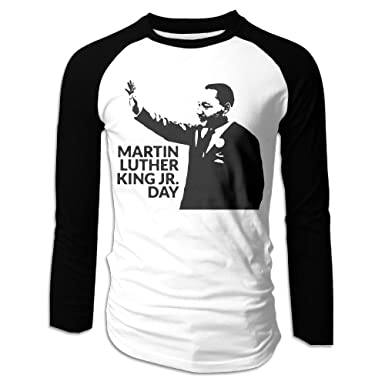 Amazon Com Raglan Baseball Tee Men Martin Luther King Jr Day