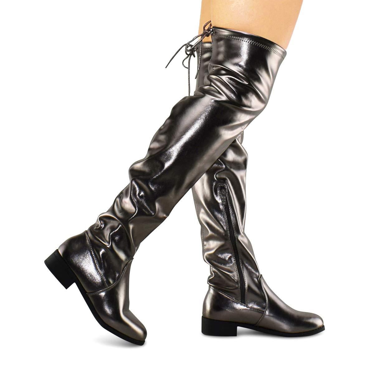 ef8d31302dc Premier Standard Women s Fashion Comfy Vegan Suede Block Heel Side ...