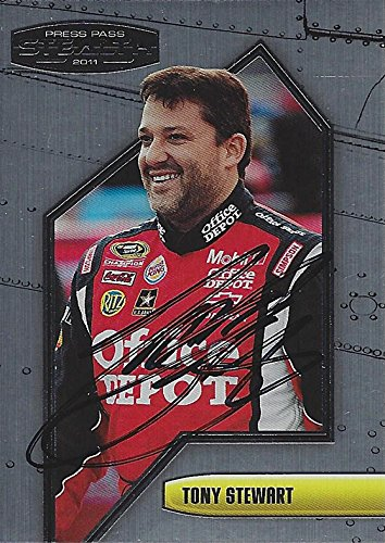 AUTOGRAPHED Tony Stewart 2011 Press Pass Stealth Racing (#14 Office Depot Chevy Impala) Stewart-Haas Team Signed Collectible NASCAR Trading Card with COA