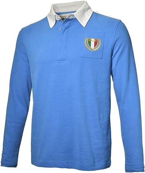 Olorun - Camiseta de Rugby del Equipo de Italia Estilo Vintage ...