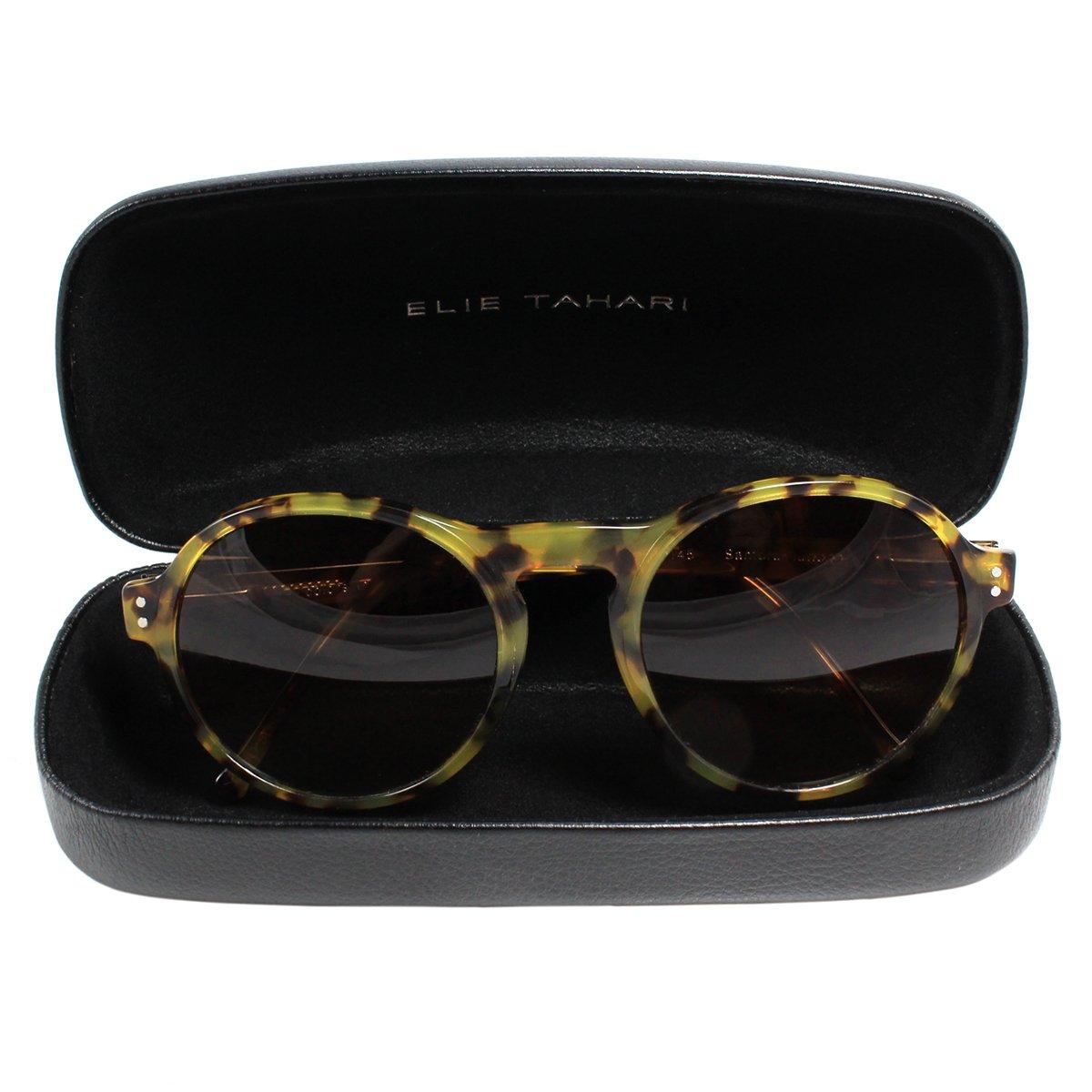 41a100497c Amazon.com  Elie Tahari Colors in Optics Hamilton Retro Round Women s  Sunglasses