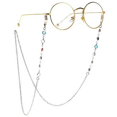 a05193f5865053 TIJN Brillenketten für Lesebrillen Perlen Brillen Cord Brillenband Damen  Lesebrille Brille Kette Sonnebrillen Band Lesebrillen Kette