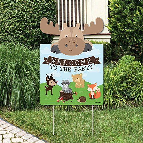 Way Baby Shower (Big Dot of Happiness Woodland Creatures - Party Decorations - Birthday Party or Baby Shower Welcome Yard Sign)