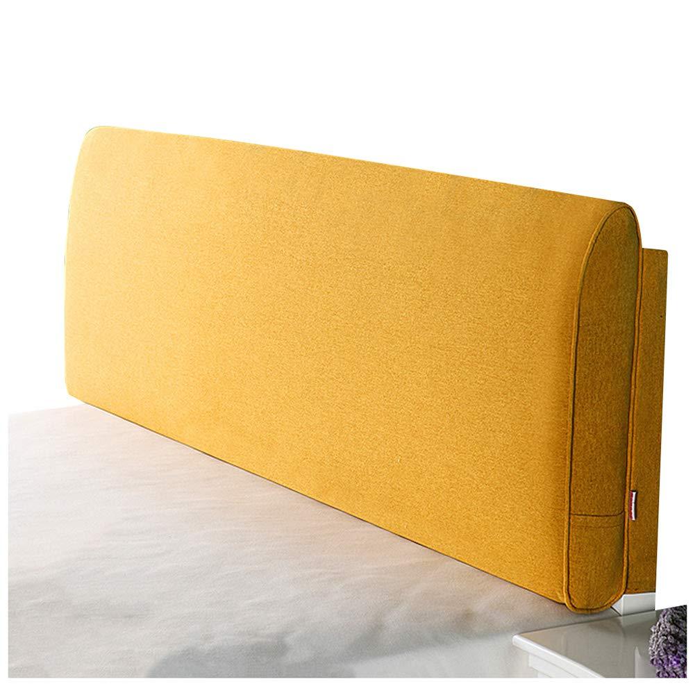 予約販売 ベッドサイド クッション : ベッドの背もたれヘッドボード付き/なしのフィットベッド リネン 取り外し可能かつ洗濯可能、 200cm 8色 (色 Yellow-A : Yellow-A, サイズ さいず : 200cm) B07RBX5H2S Yellow-A 200cm, ガキカキ:e0fb70ef --- sbrc.masdar.ac.ae