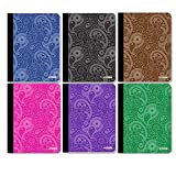 4 Pk, BAZIC 100 Ct. Paisley Composition Book Review and Comparison