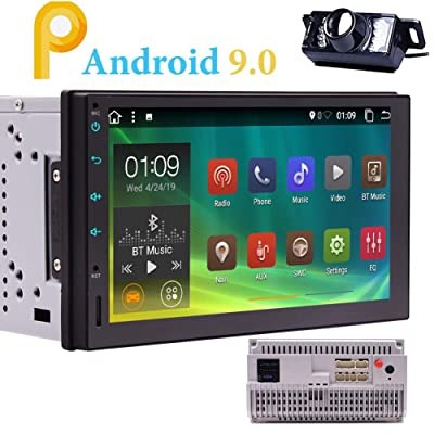Android 9.0 Car Radio Bluetooth Double 2 Din Car Stereo with Backup Camera Standard in Dash 7 inch Capacitive Touch Screen 2Din Head Unit Support GPS WiF 4G USB SD Mirror Link Steering Wheel Control: Car Electronics