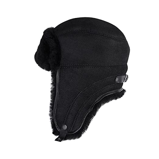 401b44672d1 Amazon.com  OrlovNY Men s Sheepskin Bomber Hat Winter Trapper Hat ...