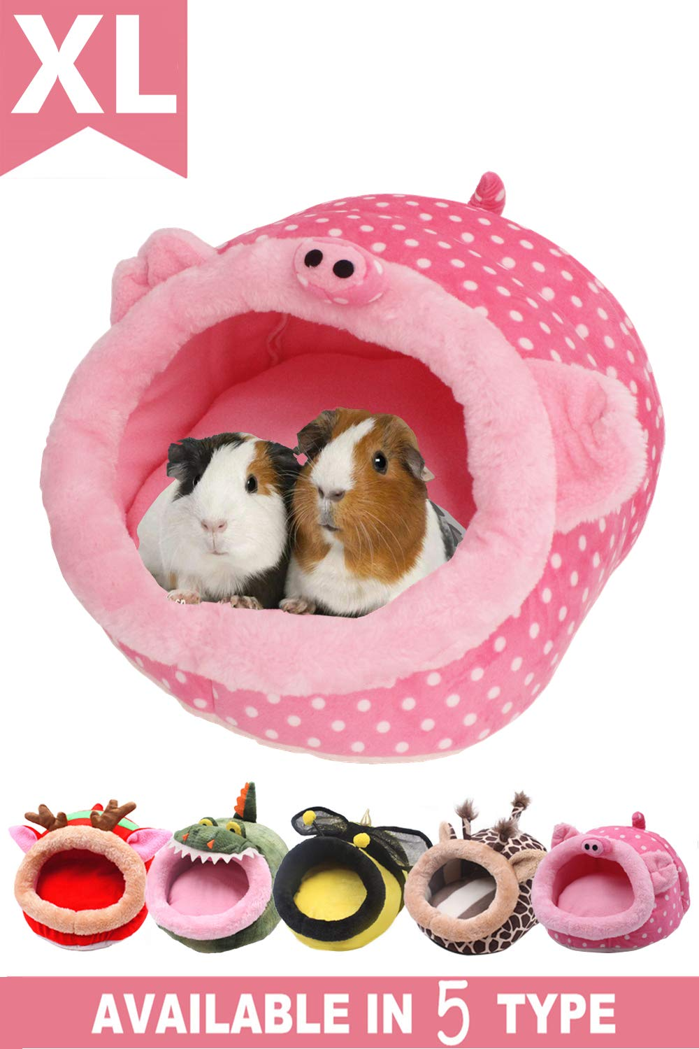 JanYoo Chinchilla House Ferret Bed Accessories Tunnel Pouch for Hedgehog Supplies