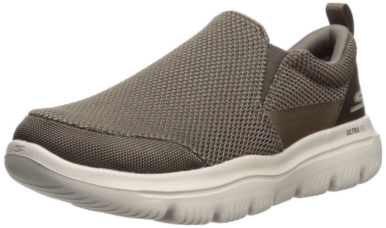 Skechers Men's GO Walk Evolution Ultra-Impeccable Sneaker, Khaki, 8 Extra Wide US