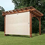 Shatex Garden Shade Fabric Adjustable Vertical Side Wall Panel for Patio/Pergola/Window 6x5ft Wheat