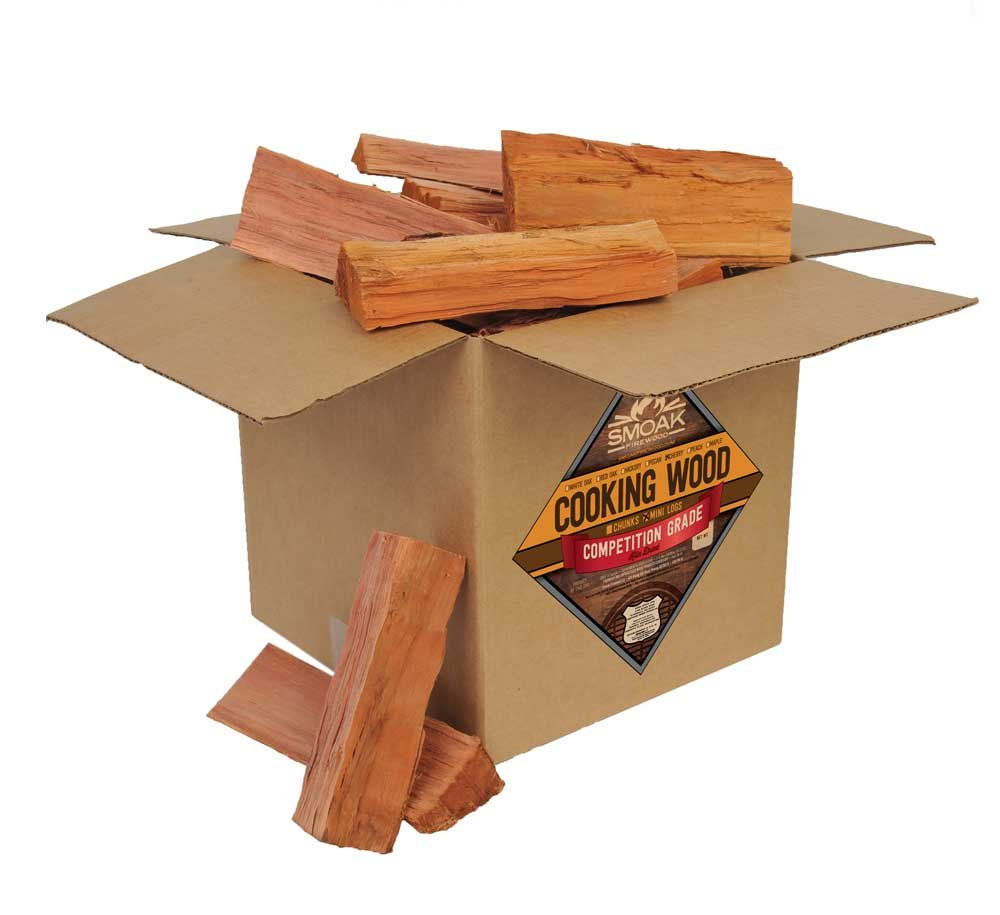 Smoak Firewood Cooking Wood Logs - USDA Certified Kiln Dried (Cherry, 25-30 lbs)