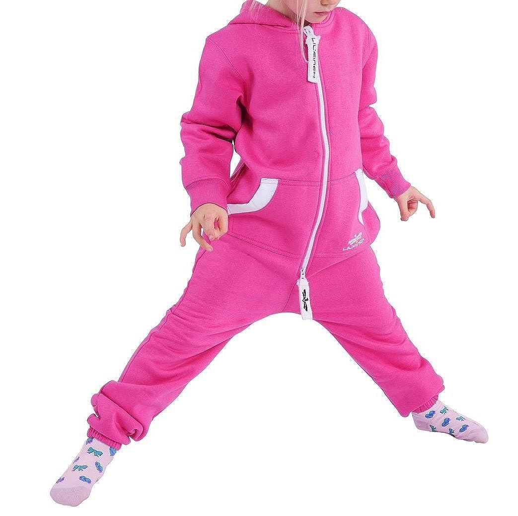 LILFinch LFV2 Ragazzi per Bambini Unisex Colore Normale Tuta all in One con Cappuccio in Pile