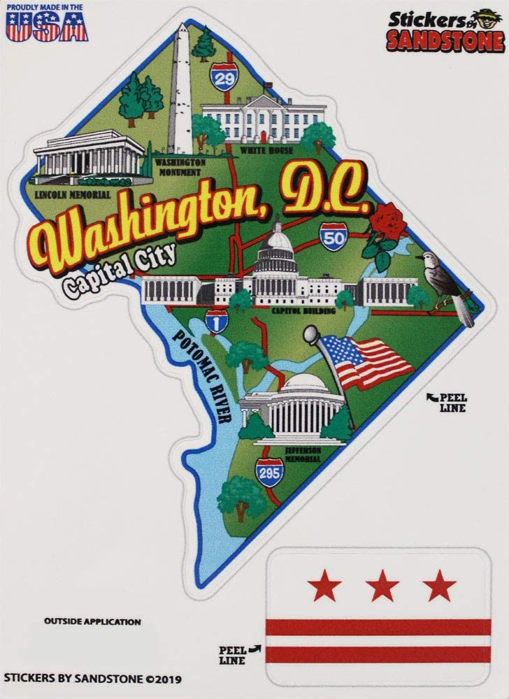 Washington Dc Map Outline Amazon.com: Washington, DC (District of Columbia)   State Map