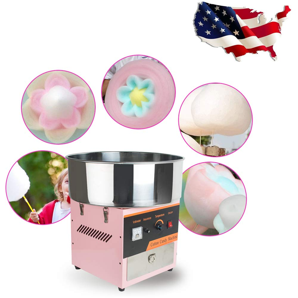 Ovovo Commercial Cotton Candy Machine Electric Cotton Candy Maker for Kids Carnival Party