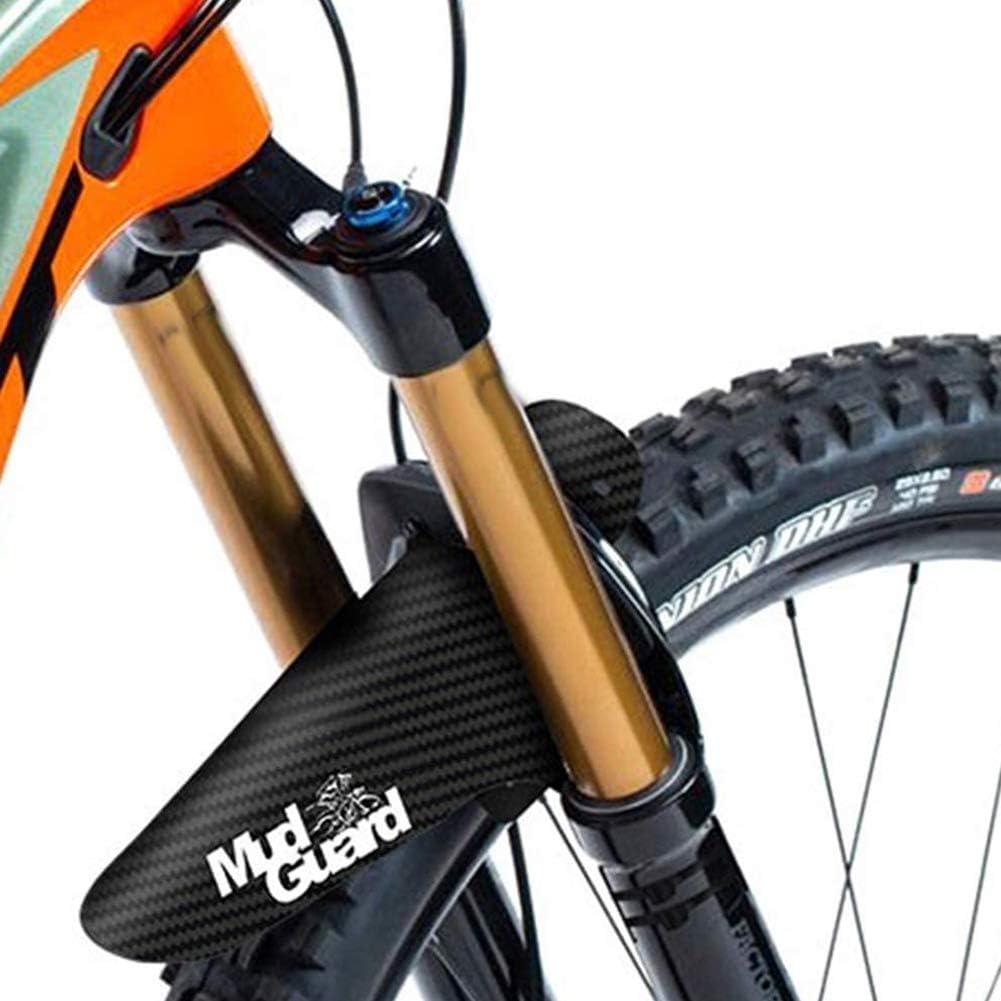 BESLIME 2Pcs Guardabarros de Bicicleta 8 sujetacables Se Adapta a 650B 2026 27.529 Pulgadas Guardabarros Delantero y Trasero(260 * 220 mm)