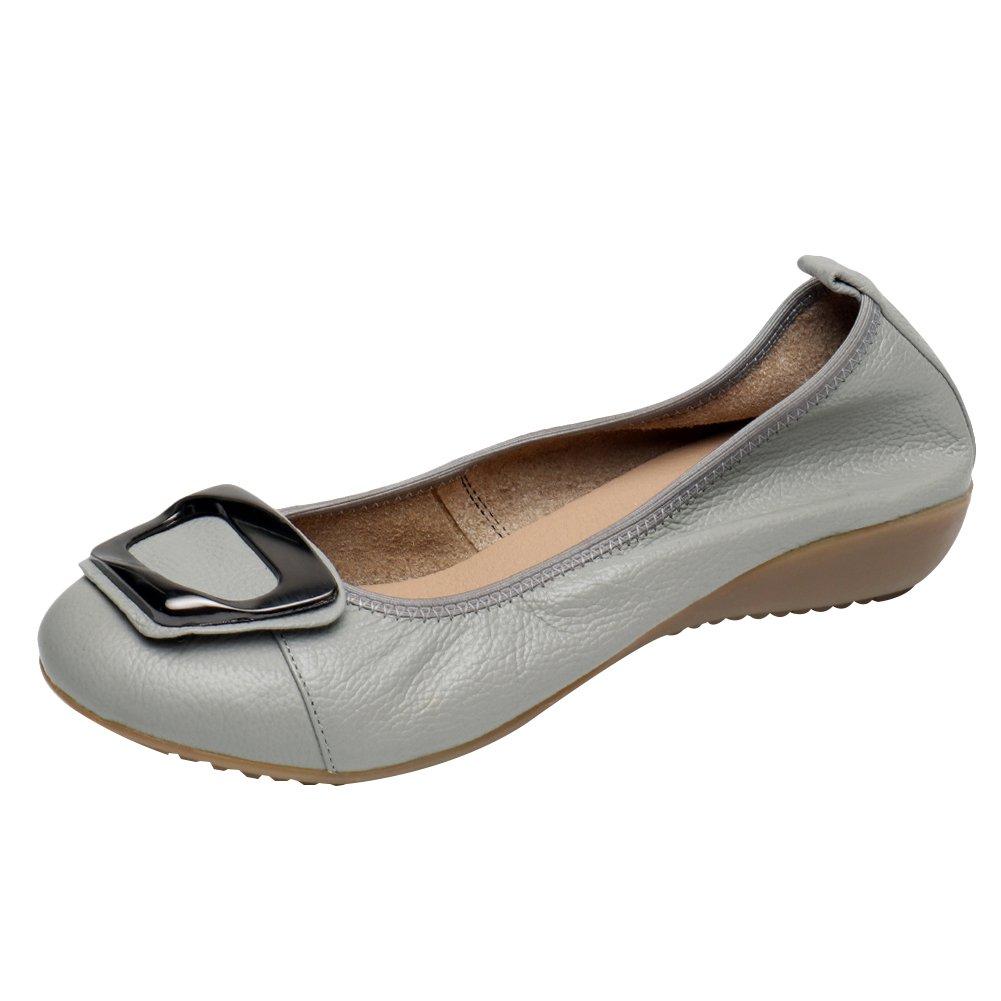 Jamron a Donna Vera Pelle Pelle Pelle Basso Comfort Scarpe Suola Pantofole ... 463013