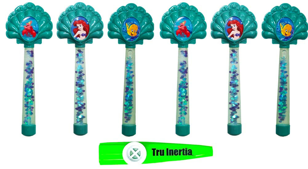 Tru Inertia Swimming Pool Disney Princess Glitter Dive Wands - Pool Dive Sticks Pack of 2 Kazoo - Ariel Little Mermaid Pool Toys by Tru Inertia