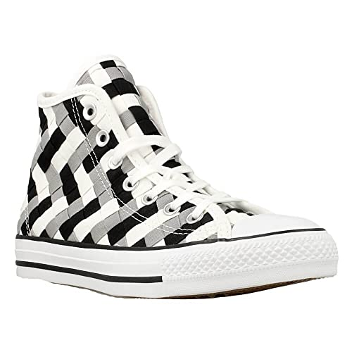 23ad1d5ae94e Converse Shoes Women High Top Sneaker - Woven Design - Dolphin Black White