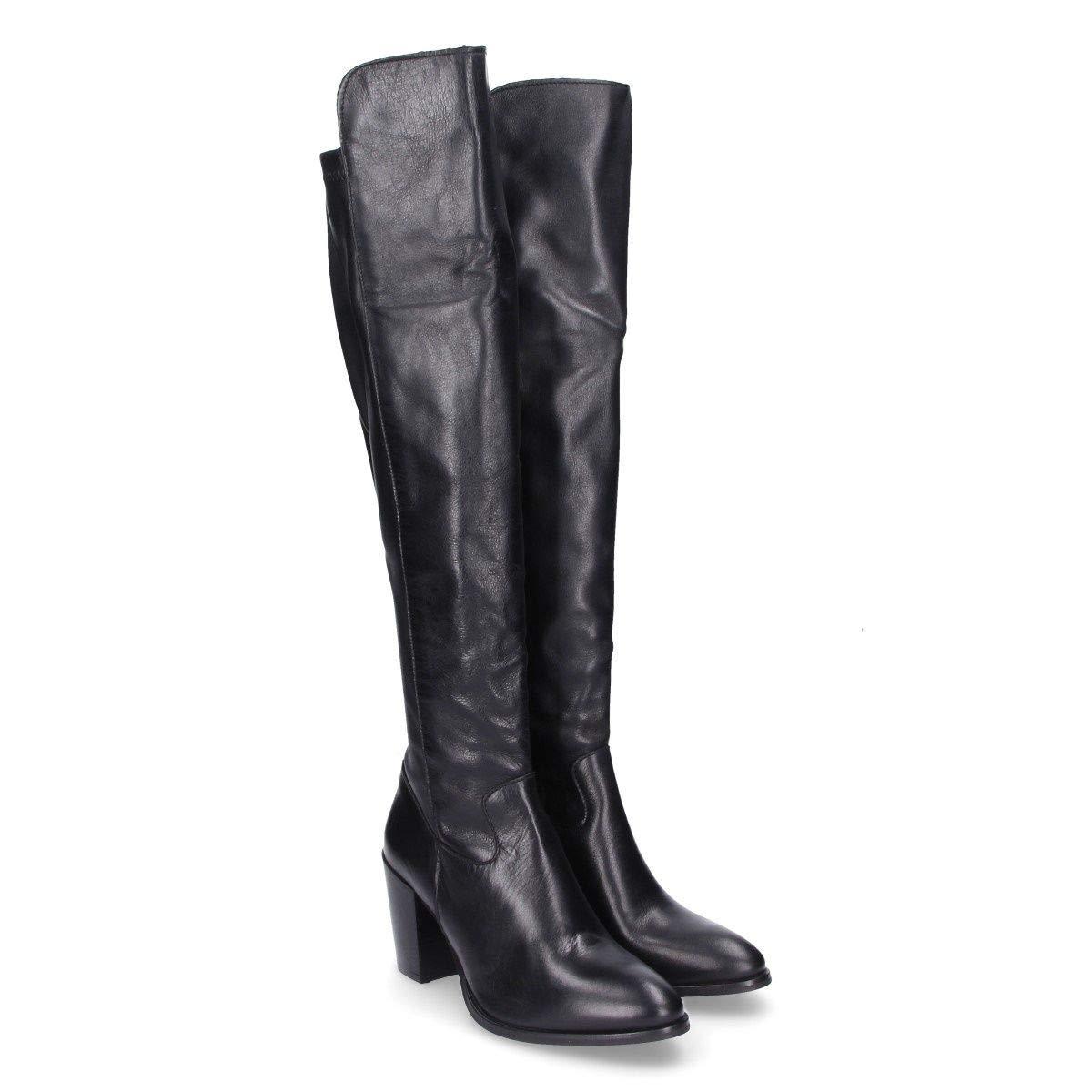 MOHAI Damen GRETAMOHschwarz Schwarz Leder Stiefel Stiefel Stiefel 7856e5