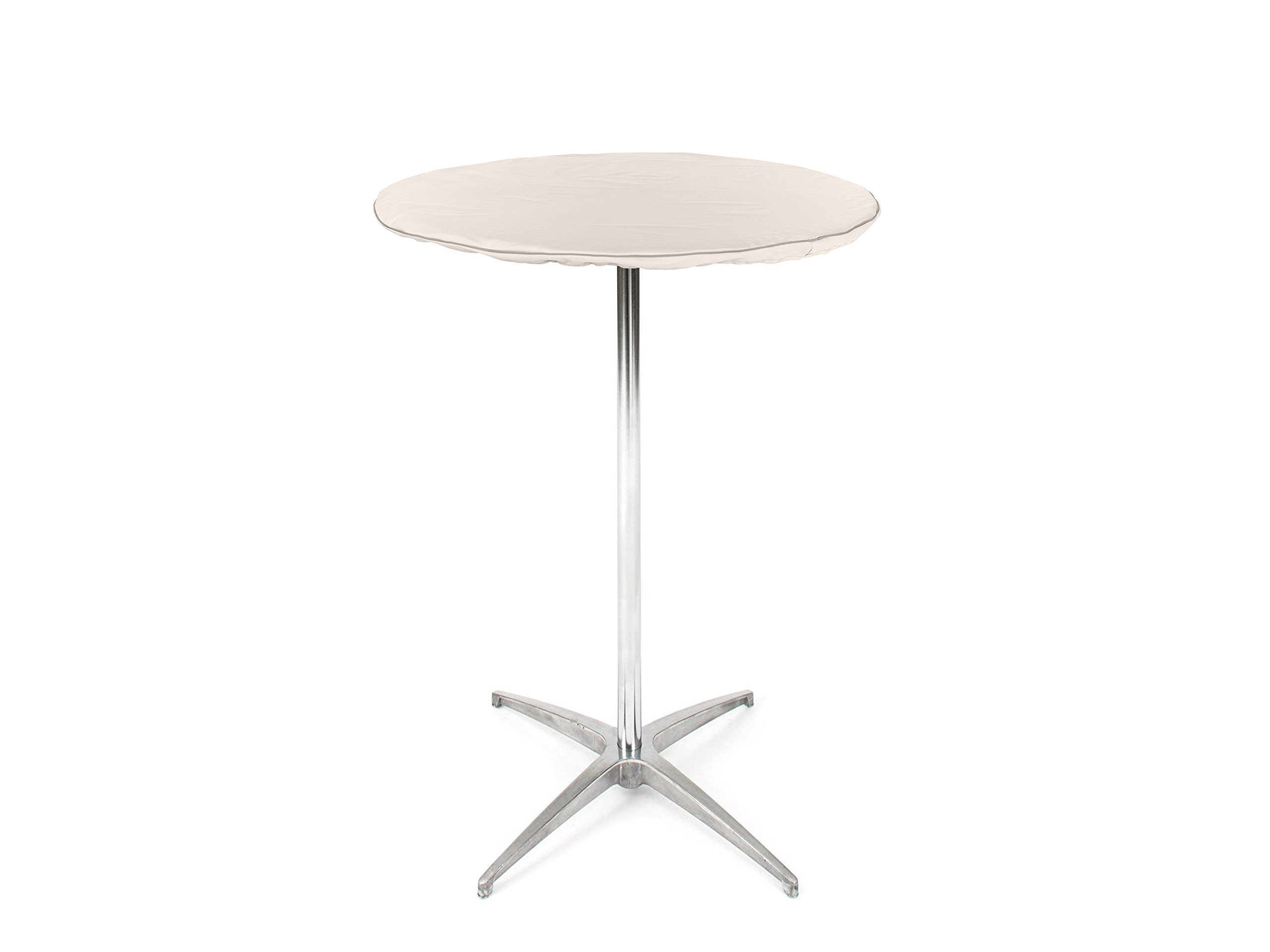 CoverMates – Round Table Top Cover – 18–24 DIAMETER – Prestige Collection – 7 YR Warranty – Year Around Protection- Stone