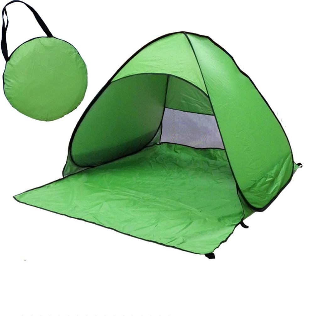 Beach Shade Pop Up,Sunfei Fully Automatic Set-up Camping Beach Shade Tent Speed Open Outdoor UV Protection with Carry Case (Green) by ®Sunfei