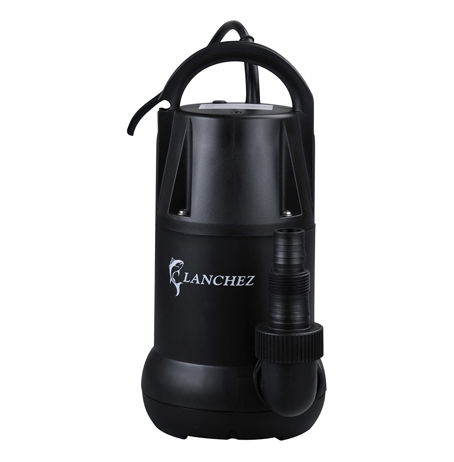 Lanchez Q7503 1/2 HP Multi-Purpose Electric Thermoplastic Submersible Utility Water Pump for Clean Water