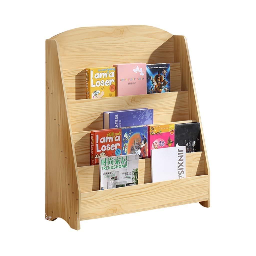 Biblioth/èque Pour Enfants Support De Livre Dimages Simple Pr/ésentoir De Biblioth/èque De Jardin Denfants 5 Couches De Bois Couleur taille : 60x30x95cm