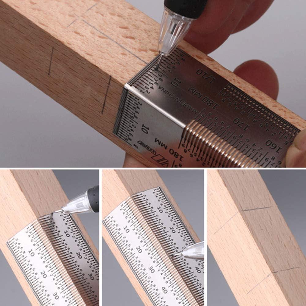 Incra Tools 400mm R/ègle de Marquage ultra-pr/écise Jauge Outil de mesure Single Scale bois