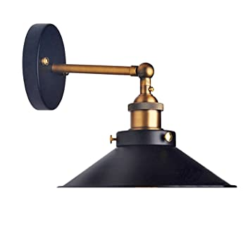 Great Lemonbest Modern Vintage Industrial Loft Metal Black Rustic Wall Sconce  Light Retro Wall Lamp     Amazon.com