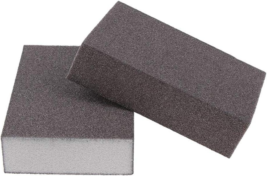 Handschleifer f/ür Verschiedene Materialien Geeignet DIY Handschleifklotz Schleifklotz Grau 120-180 fein Schleifblock 3.94 x 2.76 x 0.94 Zoll