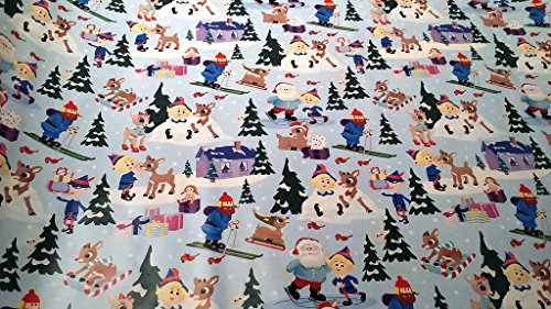 Christmas Wrapping Rudolph the Red-Nosed Reindeer Holiday Paper Gift Greetings 1 Roll Design Festive Rudolph Snow (Homemade Reindeer Costume)