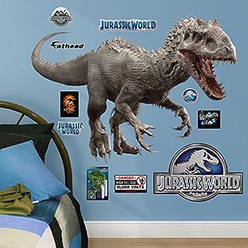 Amazoncom Fathead TRexJurassic World Junior Peel And Stick - Jurassic world wall decals