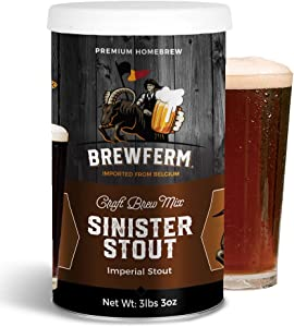 Brewferm Sinister Stout (Imperial Stout) Belgian Homecraft Craft Brew Mix - makes 9 liters or 2.5 gallons of beer