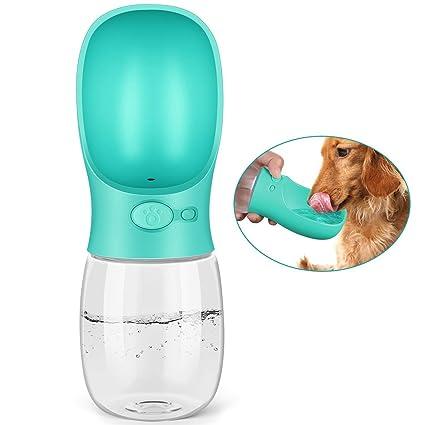 PEDY Botella de Agua para Mascotas Bebedero Portátil de Viaje para Perros y Gatos Fuente Portátil
