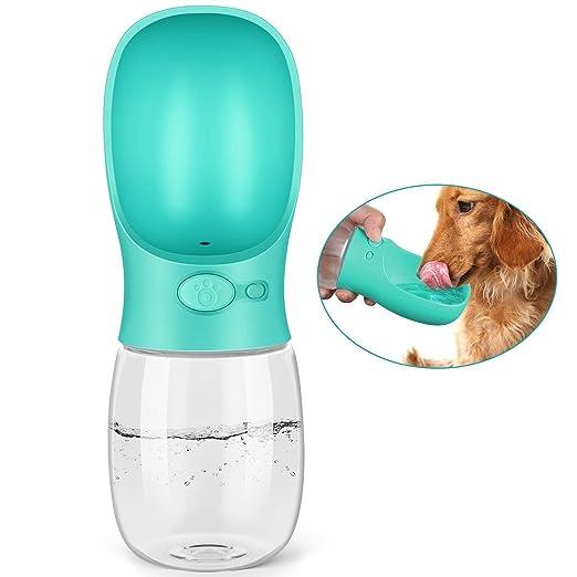 PEDY Botella de Agua para Mascotas Bebedero Portátil de Viaje para Perros y Gatos Fuente Portátil para Mascotas Capacidad de 350ML Color Azul: Amazon.es: ...