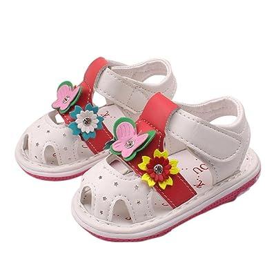 705792f05301 â ¤ï¸ Chaussures de Bébé Sandales, Amlaiworld Bébé Sandales Fleurs Sandales Filles  Chaussures