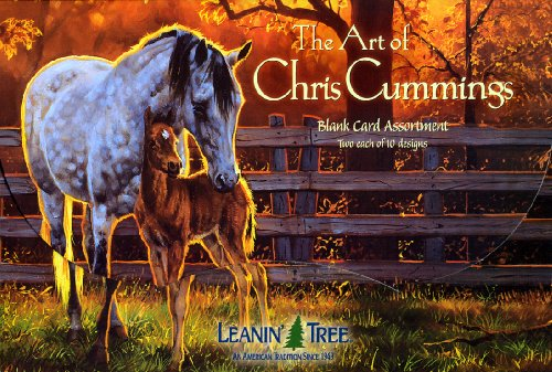Full Assortment - The Art of Chris Cummings - [AST90630] Blank Horse Greeting Card Assortment by Leanin' Tree - 20 cards with full-color interiors and 22 designed envelopes