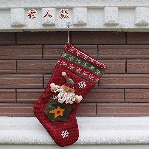 Christmas Sock Santa Claus Snowman Xmas Decoration Tree Snowflake Ornament (Red / Santa Claus) (Blow Pop Adult Costume)