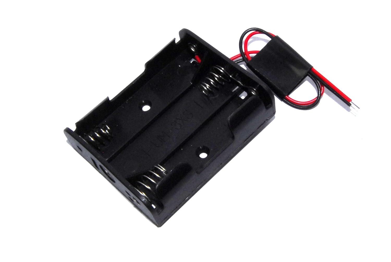 3xAA Battery Clip 1.5V 4.5V UM-3X3 Arduino Shield Black Wired Unbranded/Generic