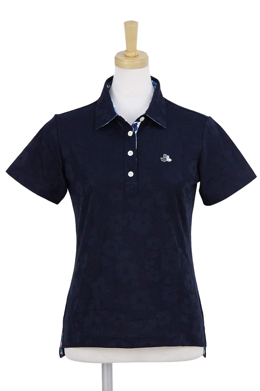 ポロシャツ レディース ブラック&ホワイト Black&White 2019 春夏 ゴルフウェア bls9709tc LL(LL) ネイビー(30) B07QTZDR9R