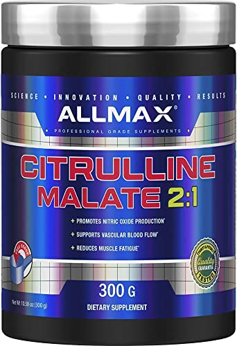 ALLMAX Nutrition Citrulline Malate, Unflavored, 150 Serving 300 Gram