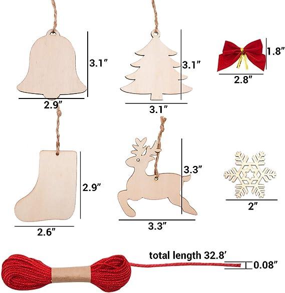Supercrafts UK-deux trous Noël Stocking en bois boutons 20