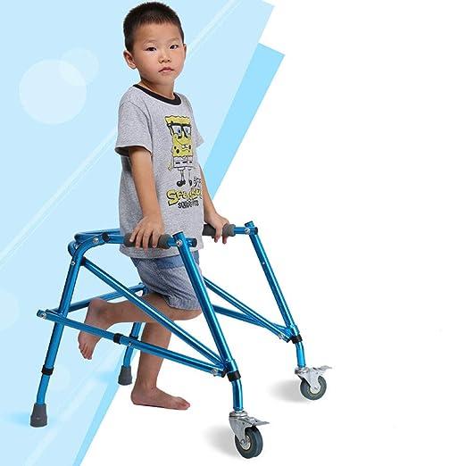 LOVEQIZI Andador para niños Enano Altura Ajustable Azul Ancianos ...
