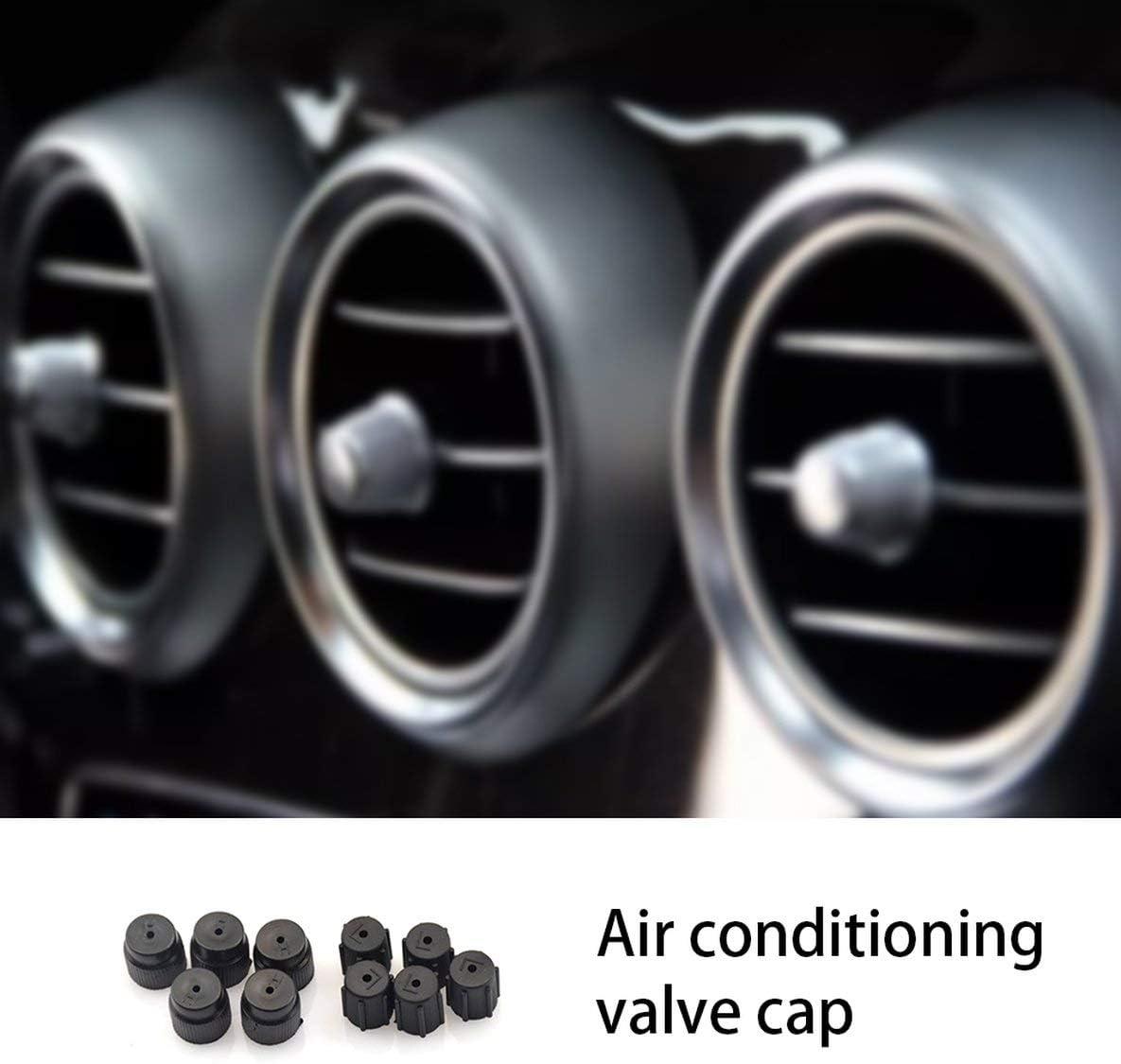 10 pezzi//set plastica professionale di piccole dimensioni R134a 13mm e 16mm aria condizionata servizio tappi porta di ricarica sistema CA nero