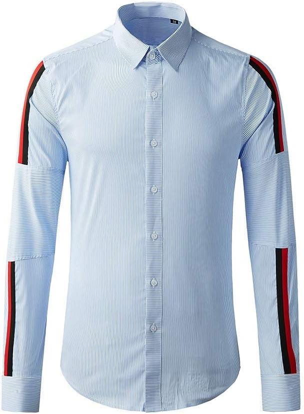 Reeamy-Home Camisa de Hombre La Camisa Ligera Asunto Azul ...