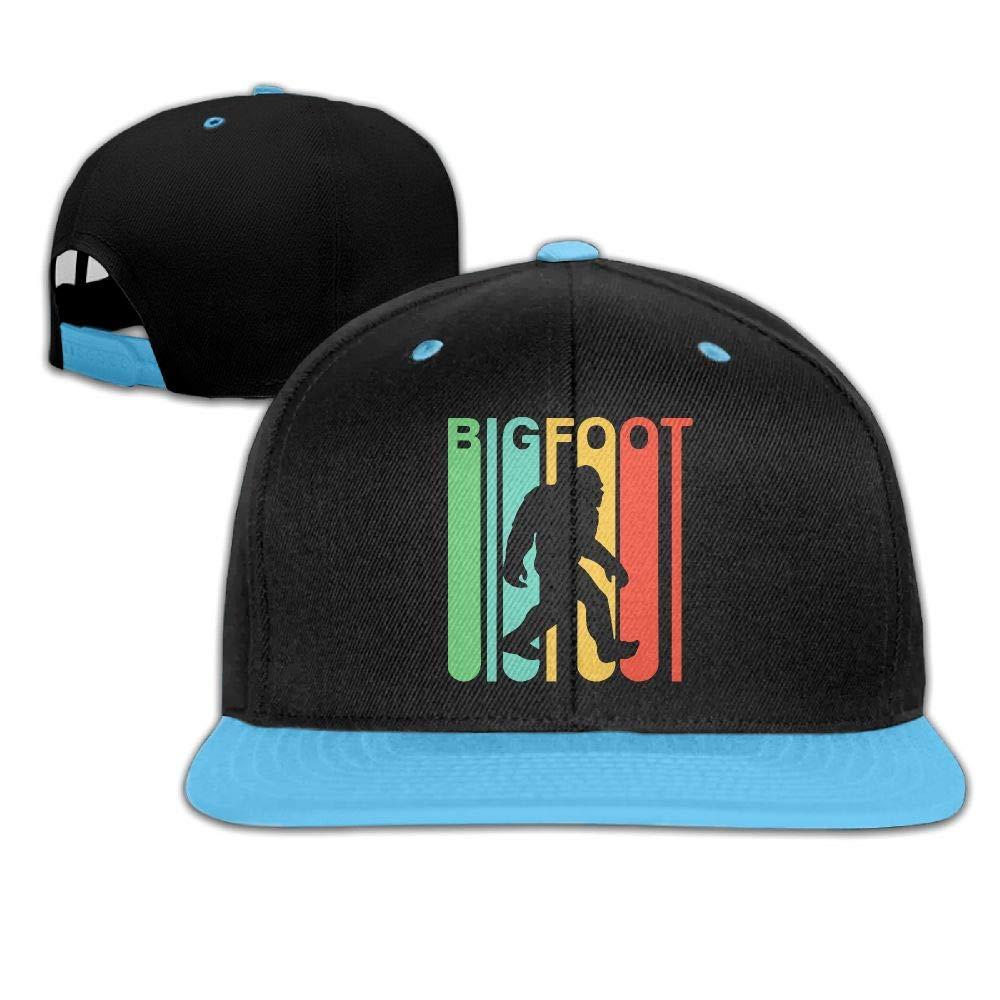 Youth Boys Girls Retro Style Bigfoot Silhouette Baseball Cap Snapback Hip Hop Cap