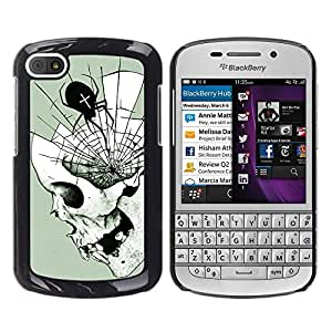 """For BlackBerry Q10 Case , Telaraña Mente Colmillos profundo de Halloween"""" - Diseño Patrón Teléfono Caso Cubierta Case Bumper Duro Protección Case Cover Funda"""