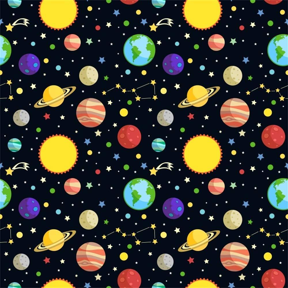 EdCott 8x8ft Dibujos Animados Planetas espaciales Telón ...