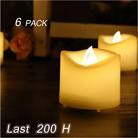 6 x Colour Changing LED Tea Lights Candles Battery Operated Party Decor Candles